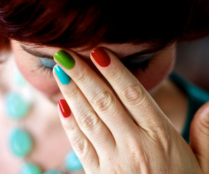 girl, colorful, and nails image