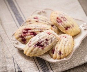 raspberry and madeleines image