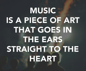 music, quotes, and heart image