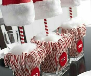 christmas, candy canes, and decoration image