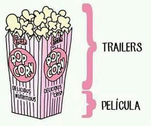 movie, popcorn, and movies image