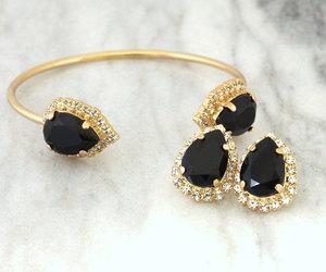 bracket, gift for her, and swarovski bracelet image