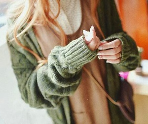 autumn, cardigans, and scarves image