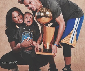 stephen curry, riley curry, and Basketball image
