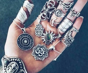 rings, accessories, and necklace image