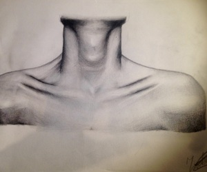 art, drawing, and neck image