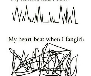 fangirl, heart, and funny image