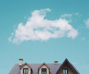sky, house, and clouds image