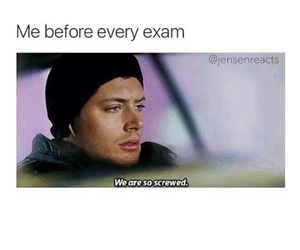 dean winchester, funny, and exam image