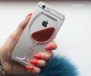 iphone, wine, and nails image