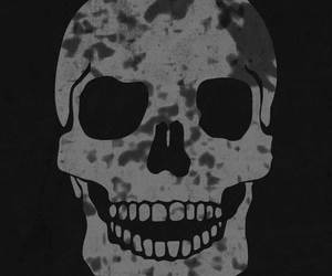 apple, skull, and iphone image