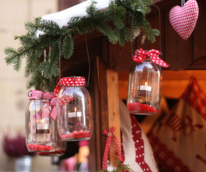candles, christmas, and heart image