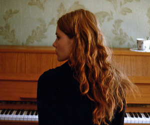 piano and girl image