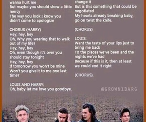 Lyrics, one direction, and love you goodbye image