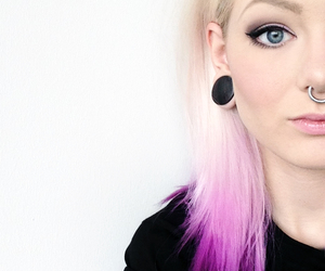 piercing and hair image