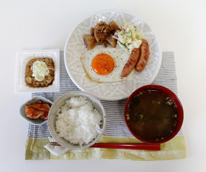 food, breakfast, and japan image