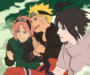 naruto, team 7, and sasuke uchiha image