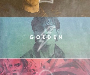 harry potter, hermione granger, and the golden trio image