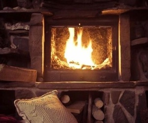 winter, book, and fireplace image