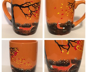 etsy, hand painted, and red fox image