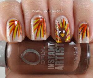 thanksgiving, thanksgiving nails, and thanksgiving nail art image