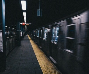 grunge, train, and dark image