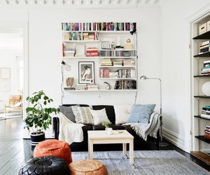 home, interior, and book image