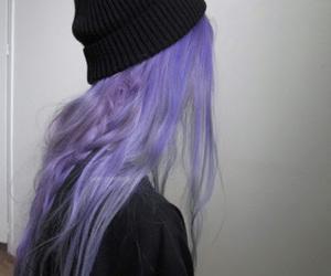 girl, morado, and hair image