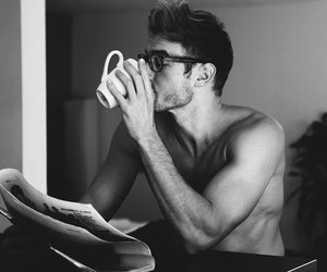 coffe, man, and love image