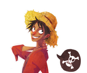 one piece, luffy, and anime boy image