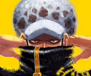 anime, Law, and one piece image