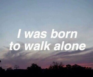alone, quotes, and grunge image
