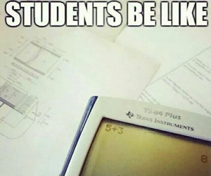 funny, student, and math image