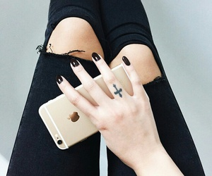 fashion, black, and nails image