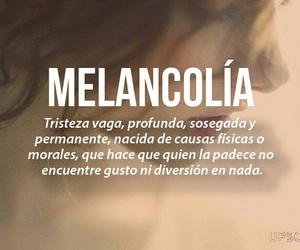 melancolía, palabras, and frases image