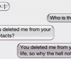 delete, life, and text image