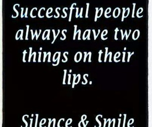 quote, silence, and smile image