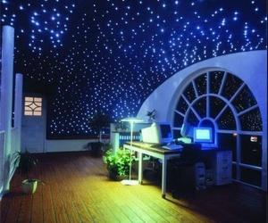 room, stars, and light image