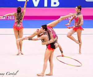 gymnastics, spain, and rhythmic gymnastics image