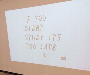 school, Drake, and study image