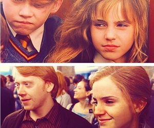 emma watson, harry potter, and ron and hermione image