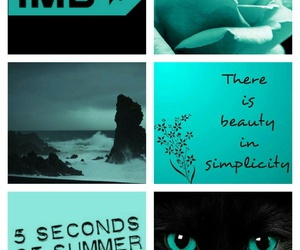 black, teal, and 5 seconds of summer image