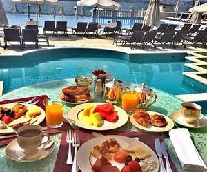 food, fruit, and pool image