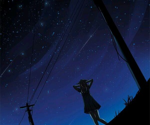 alone, anime, and galaxy image