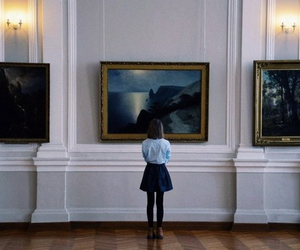 art, girl, and museum image