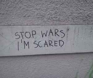 war, scared, and stop image