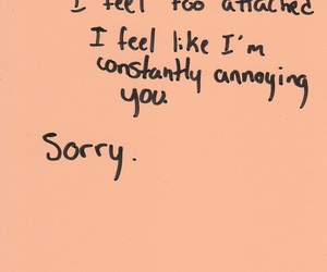 quote, sorry, and clingy image