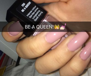 girl, nails, and Queen image