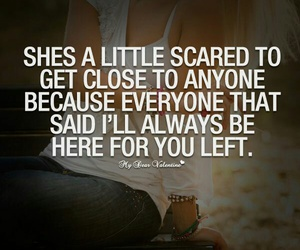 scared, quote, and left image