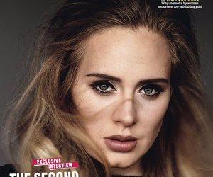 Adele, music, and magazine image